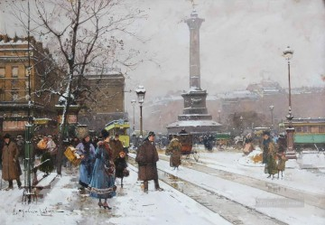 La Place de la Bastille Galien Eugene Oil Paintings