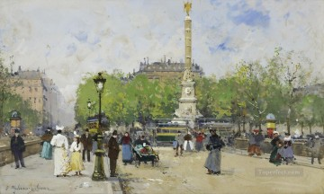 Place de Chatelet Galien Eugene Oil Paintings