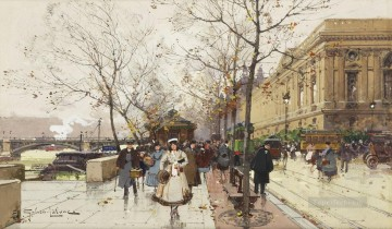 Quai de Louvre Galien Eugene Oil Paintings