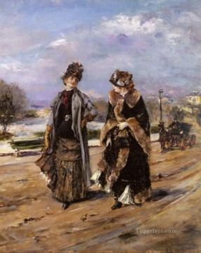 A Leisurely Promenade woman Eduardo Leon Garrido Oil Paintings