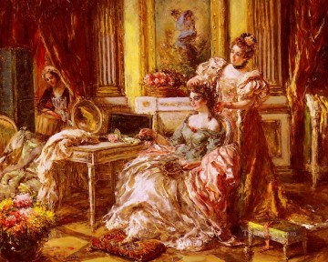 Eduardo Leon Garrido Painting - Preparing For The Ball woman Eduardo Leon Garrido