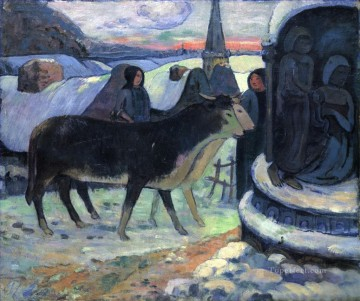 Artworks by 350 Famous Artists Painting - Christmas Night The Blessing of the Oxen Paul Gauguin