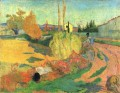 Farmhouse from Arles or Landscape from Arles Paul Gauguin