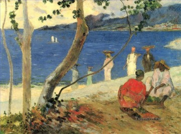 Artworks by 350 Famous Artists Painting - Fruit carriers in lanse Turin or Seaside II Paul Gauguin scenery
