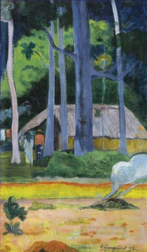 Artworks by 350 Famous Artists Painting - HUT UNDER THE TREES Paul Gauguin