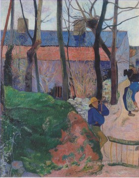 Artworks by 350 Famous Artists Painting - Houses in Le Pouldu Paul Gauguin