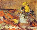 Mandolina and Flowers Post Impressionism Primitivism Paul Gauguin