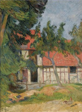 Artworks by 350 Famous Artists Painting - STABLE NEAR DIEPPE Paul Gauguin yard