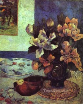 Paul Gauguin Painting - Still Life with Mandolin Post Impressionism flower Paul Gauguin