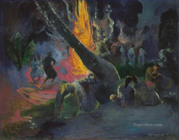 Artworks by 350 Famous Artists Painting - The Fire Dance Paul Gauguin