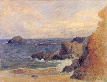 Artworks by 350 Famous Artists Painting - The Rocky Coast Rocks by the sea Paul Gauguin