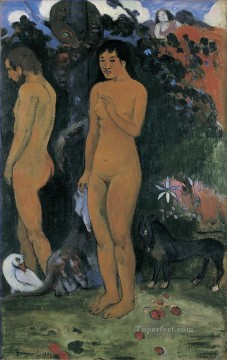 Paul Gauguin Painting - Adam and Eve Post Impressionism Primitivism Paul Gauguin