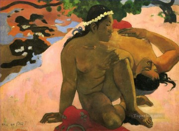 Aha oe feii Are You Jealous Post Impressionism Primitivism Paul Gauguin Oil Paintings