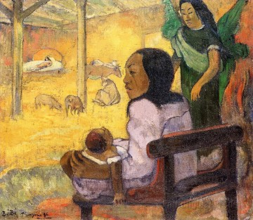 Paul Gauguin Painting - Baby The Nativity Post Impressionism Primitivism Paul Gauguin