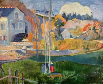 Breton Landscape The Moulin David Post Impressionism Primitivism Paul Gauguin Oil Paintings