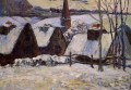 Breton Village in Snow Post Impressionism Primitivism Paul Gauguin
