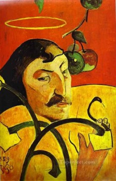 portrait - Caricature Self Portrait Post Impressionism Primitivism Paul Gauguin