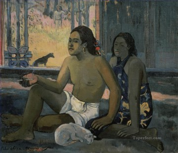 Paul Gauguin Painting - Eiaha Ohipa Not Working Post Impressionism Primitivism Paul Gauguin
