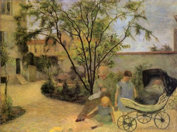 Figures in a Garden Paul Gauguin Oil Paintings