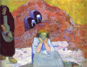 Rape Art - Harvesting of Grapes at Arles Miseres humaines Post Impressionism Primitivism Paul Gauguin