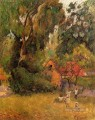 Huts under Trees Post Impressionism Primitivism Paul Gauguin