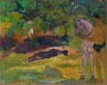 In the Vanilla Grove Man and Horse Paul Gauguin