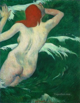 In the Waves or Ondine Paul Gauguin nude Oil Paintings