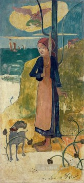 baptism of christ Painting - Joan of Arc or Breton girl spinning Paul Gauguin
