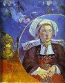La Belle Angele Portrait of Madame Satre Post Impressionism Primitivism Paul Gauguin