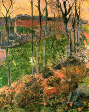 Landscape from Pont Aven Brittany Paul Gauguin Oil Paintings
