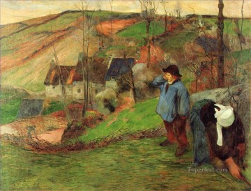 Landscape of Brittany Paul Gauguin Oil Paintings