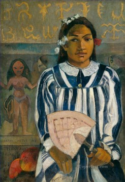 Merahi metua no Tehamana Ancestors of Tehamana Post Impressionism Primitivism Paul Gauguin Oil Paintings