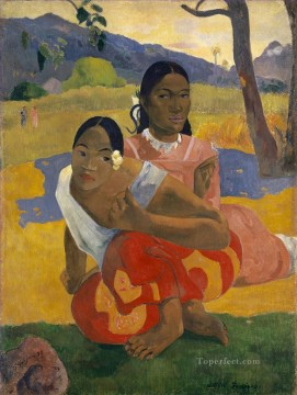 Paul Gauguin Painting - Nafea Faa ipoipo When Will You Marry Post Impressionism Primitivism Paul Gauguin