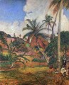 Palm Trees on Martinique Post Impressionism Primitivism Paul Gauguin