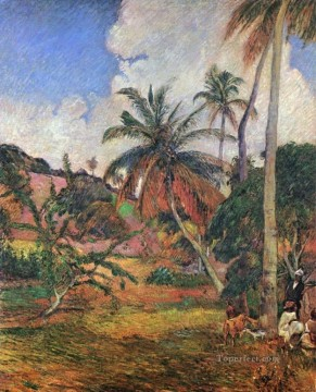 Tree Painting - Palm Trees on Martinique Post Impressionism Primitivism Paul Gauguin