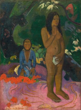 impressionism canvas - Parau na te varua ino Words of the devil Post Impressionism Primitivism Paul Gauguin