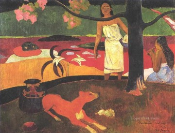 Pastorales Tahitiennes Post Impressionism Primitivism Paul Gauguin Oil Paintings