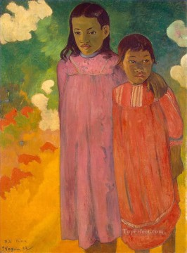 Paul Gauguin Painting - Piti Teina Two Sisters Post Impressionism Primitivism Paul Gauguin