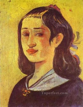 Portrait of Mother Post Impressionism Primitivism Paul Gauguin Oil Paintings