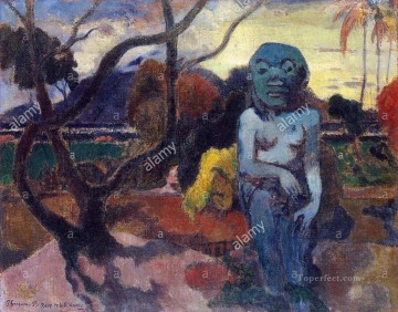 Paul Gauguin Painting - Rave te hiti aamy The Idol Post Impressionism Primitivism Paul Gauguin