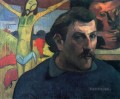 Self Portrait with Yellow Christ Post Impressionism Primitivism Paul Gauguin