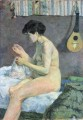 Study of a Nude Suzanne Sewing Post Impressionism Primitivism Paul Gauguin
