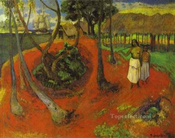 Tahitian Idyll Post Impressionism Primitivism Paul Gauguin Oil Paintings