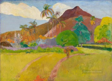 Tahitian Landscape Post Impressionism Primitivism Paul Gauguin Oil Paintings