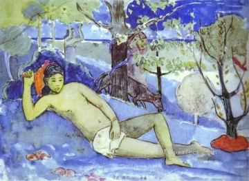 Paul Gauguin Painting - Te Arii Vahine Queen Post Impressionism Primitivism Paul Gauguin