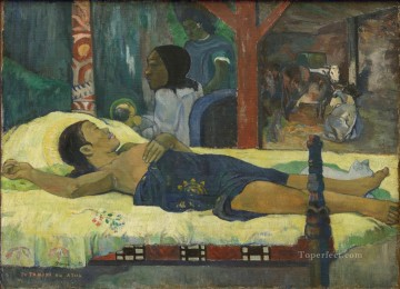 Nativity Art - Te Tamari No Atua Nativity Post Impressionism Primitivism Paul Gauguin