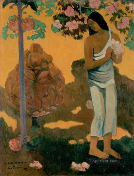 Maria Painting - Te avae no Maria Month of Maria Post Impressionism Primitivism Paul Gauguin