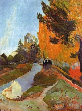 Paul Gauguin Painting - The Alyscamps Post Impressionism Primitivism Paul Gauguin