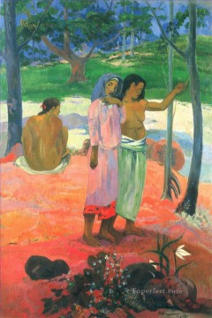 Paul Gauguin Painting - The Call Post Impressionism Primitivism Paul Gauguin