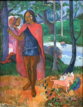 Artworks by 350 Famous Artists Painting - The Enchanter Wizard of Hiva Oa Paul Gauguin
